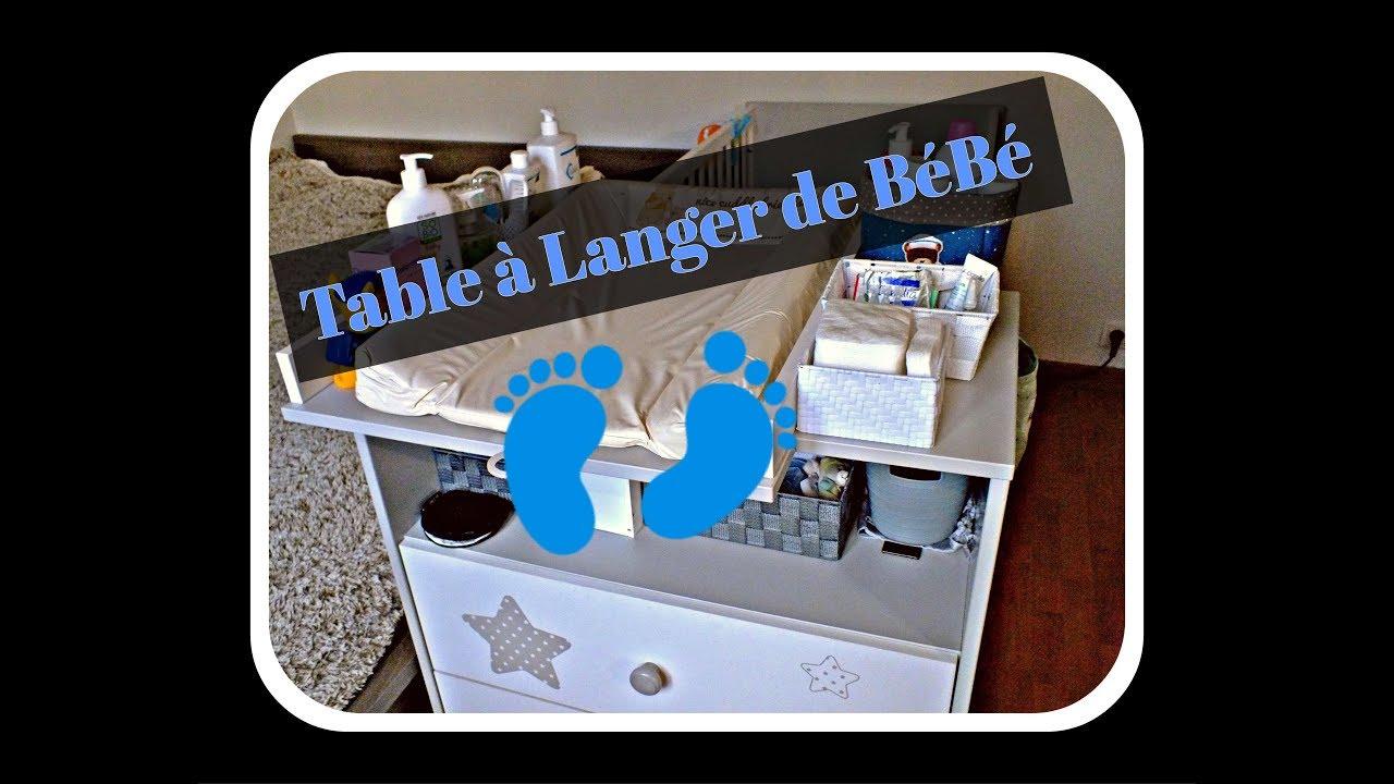 organisation table a langer de bebe b b 9 youtube. Black Bedroom Furniture Sets. Home Design Ideas