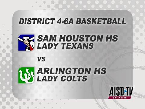 2015 AISD Basketball: Sam Houston Lady Texans vs. Arlington Lady Colts