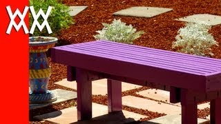 Build This Budget-friendly Outdoor Bench Using 2x4s. Fun & Easy Weekend Woodworking Project!
