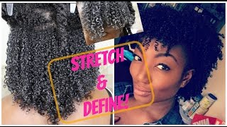 natural hair  how to achieve a stretched defined wash n go