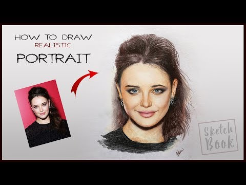 How to draw Portrait - Step by Step | Tutorial for beginners | Realistic Effect in Drawing