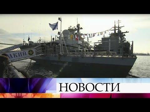 В состав Тихоокеанского флота принят новый корвет «Громкий».