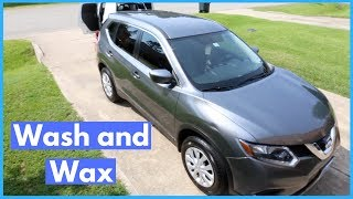 RINSELESS Wash and Wax on Nissan Rogue - How To Wash, Clay, and Wax