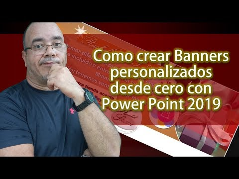 Como Crear Banners Personalizados Desde Cero Con Power Point 2019