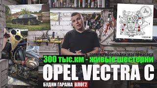 Opel Vectra C Z18XER - 300 тыс.км живые шестерни  - замена прокладки маслонасоса (будни - влог 2)