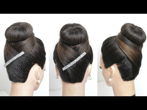 New Juda Hairstyle Simple Hair Bun For Party Womenbeauty1 Video