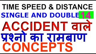 TRAINS SINGLE & DOUBLE ACCIDENT PROBLEMS|Concepts of ACCIDENT PROBLEMS| SSC CGL/BANK PO-14[IN HINDI]