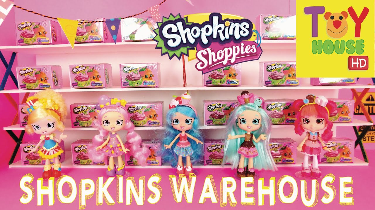 Shoppies visit shopkins warehouse part 1 doll skit youtube