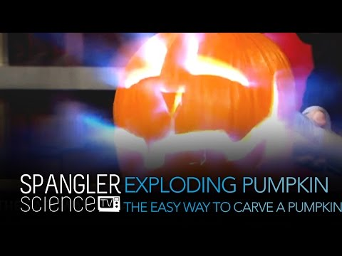 Exploding Pumpkin The Easy Way To Carve A Pumpkin - Cool Science Experiement