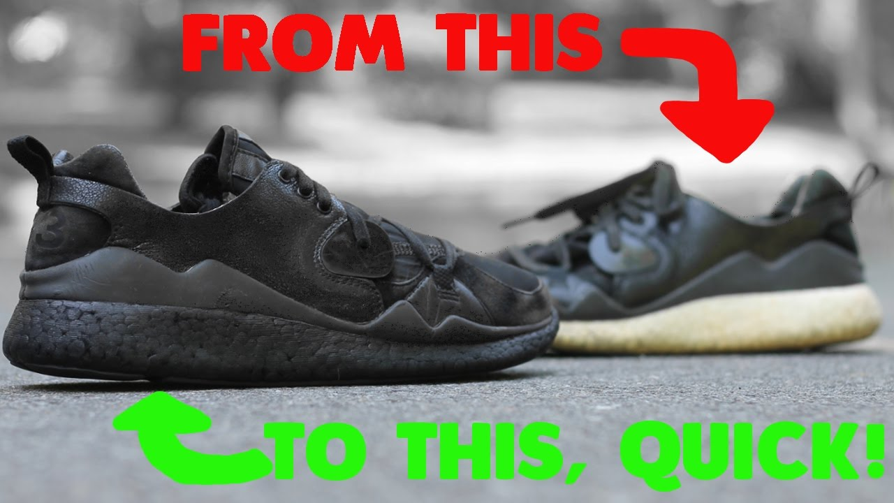 30265e2091c5d Quickest and Easiest way to black out BOOST midsoles! - YouTube
