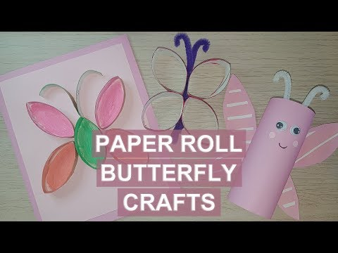 Paper Roll Butterfly Crafts