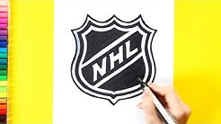How to draw National Hockey League - NHL Logo