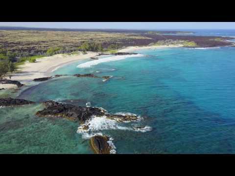 Makalawena Beach Drone Footage April 2017