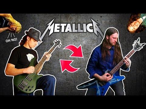 17 Metallica songs w/ SWAPPED Bass & Guitar (feat. Denis Pauna)