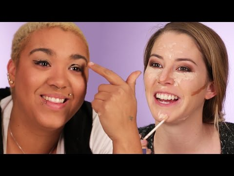 Thumbnail: Women Try The No-Mirror Makeup Challenge