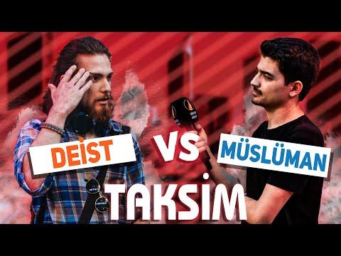 TAKSİM'in ORTASINDA Deist, Müslüman Tartışması - İman Etti Mi?