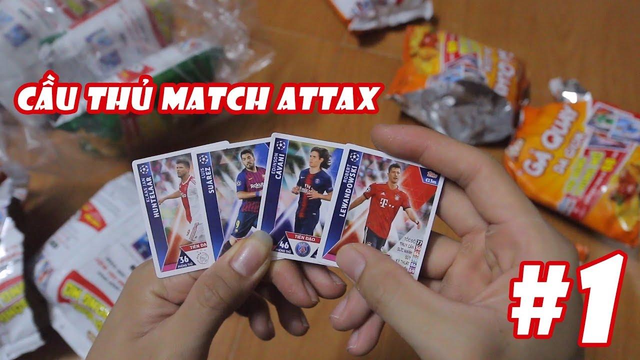 Sặn thẻ cầu thủ bóng đá đội bóng trong mơ – Bánh Poca Match Attax 2019 – Tập 1