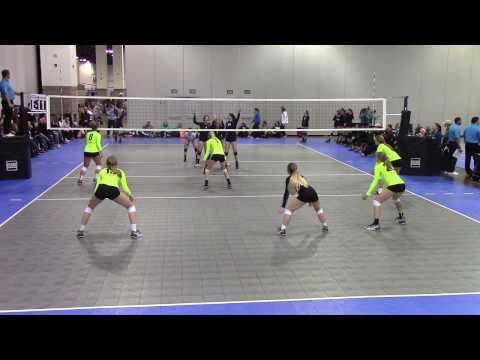Colorado Crossroads CIA 15 Silver vs Absolute Volleyball Club 15 Pink (Set 2)