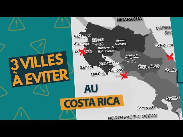 3 villes à éviter au Costa Rica