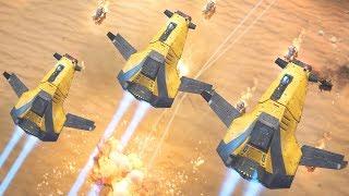 Heavy Bombers & Srike Fighters Wreck Enemy Airfield | Homeworld: Deserts of Kharak Gameplay