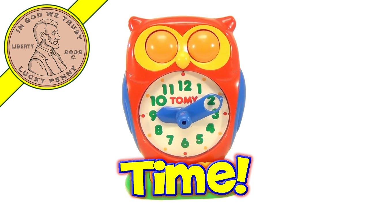 Vintage Tomy Owl Answer Clock Learning Toy - Tell The Time ...