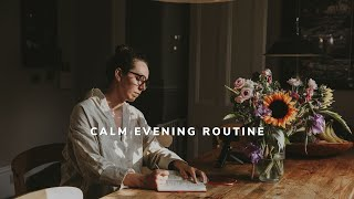 calm evening routine at home // slow living