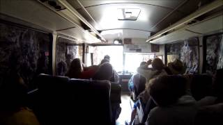 Bus Scrapes Through Tunnel on Needles Highway