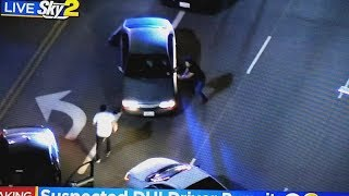 Slow speed chase through LA turns into epic vigilante justice attempts by public heroes!