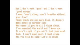 Hunter Hayes - I Want Crazy lyrics