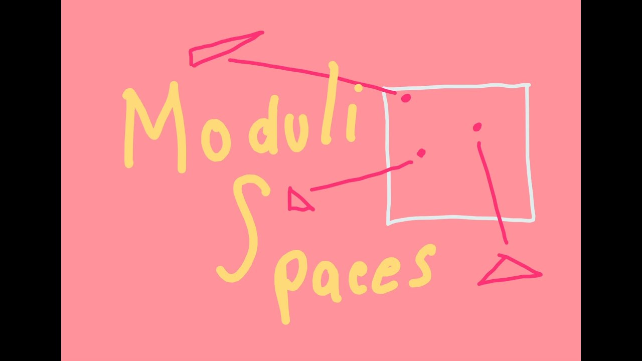 What is a moduli space?