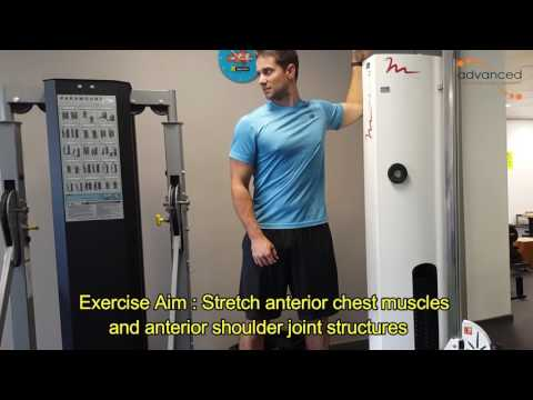 SHOULDER EXERCISES Door stretch at 90 degrees