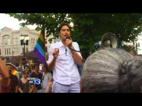 Hundreds In Asheville Celebrate Marriage Equality