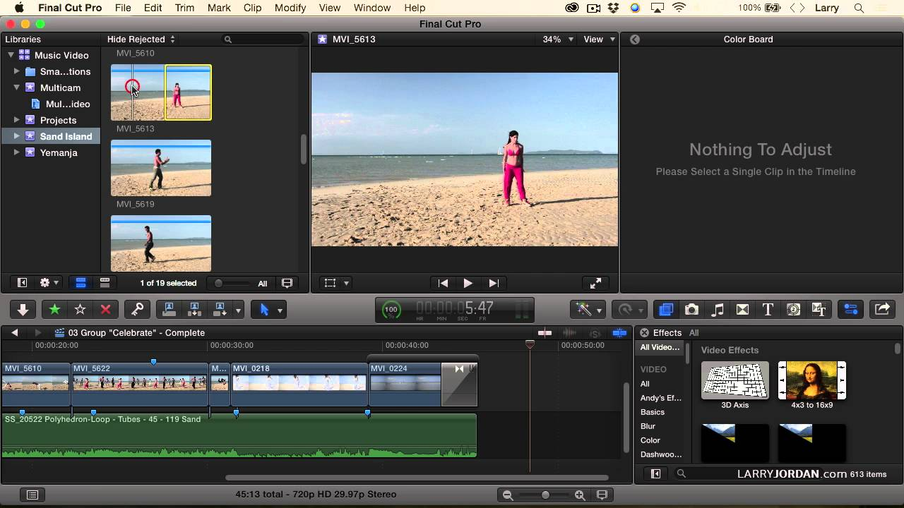 Creating Music And Dance Video Effects