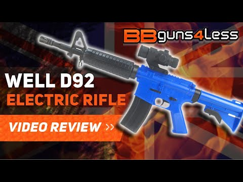 WELL D92 RIFLE AIRSOFT BB GUN REVIEW