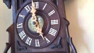Antique Cuckoo Clock With Alarm Circa 1890 By Johann Baptist Beha (short Video)