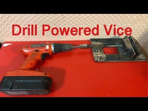 Drill operated vice diy