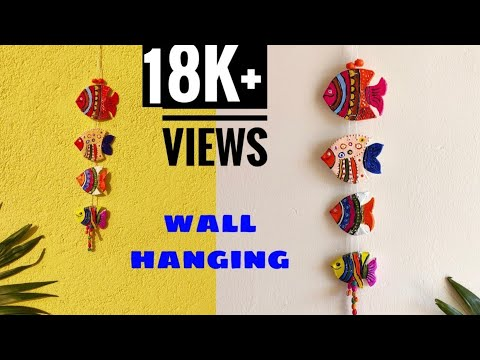 Fish Wall Hanging/DIY Home Decor/Wall Hanging With Clay/Easy Wall Decor