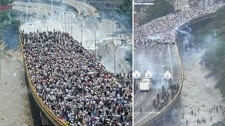 Venezuela: Tens of thousands of Venezuelans march against government