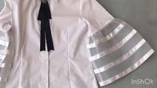 Школьная блузка для девочки Турция 184267. Обзор на брендовые детские вещи. Купить школьную блузку.