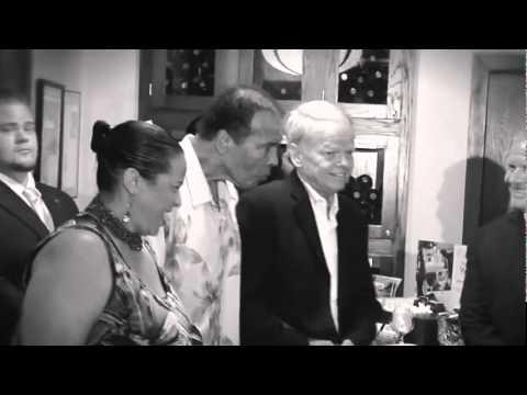 Larry Fitzgerald & Arizona Cardinals Celebrity Servers at Morton's The Steakhouse in Scottsdale, AZ