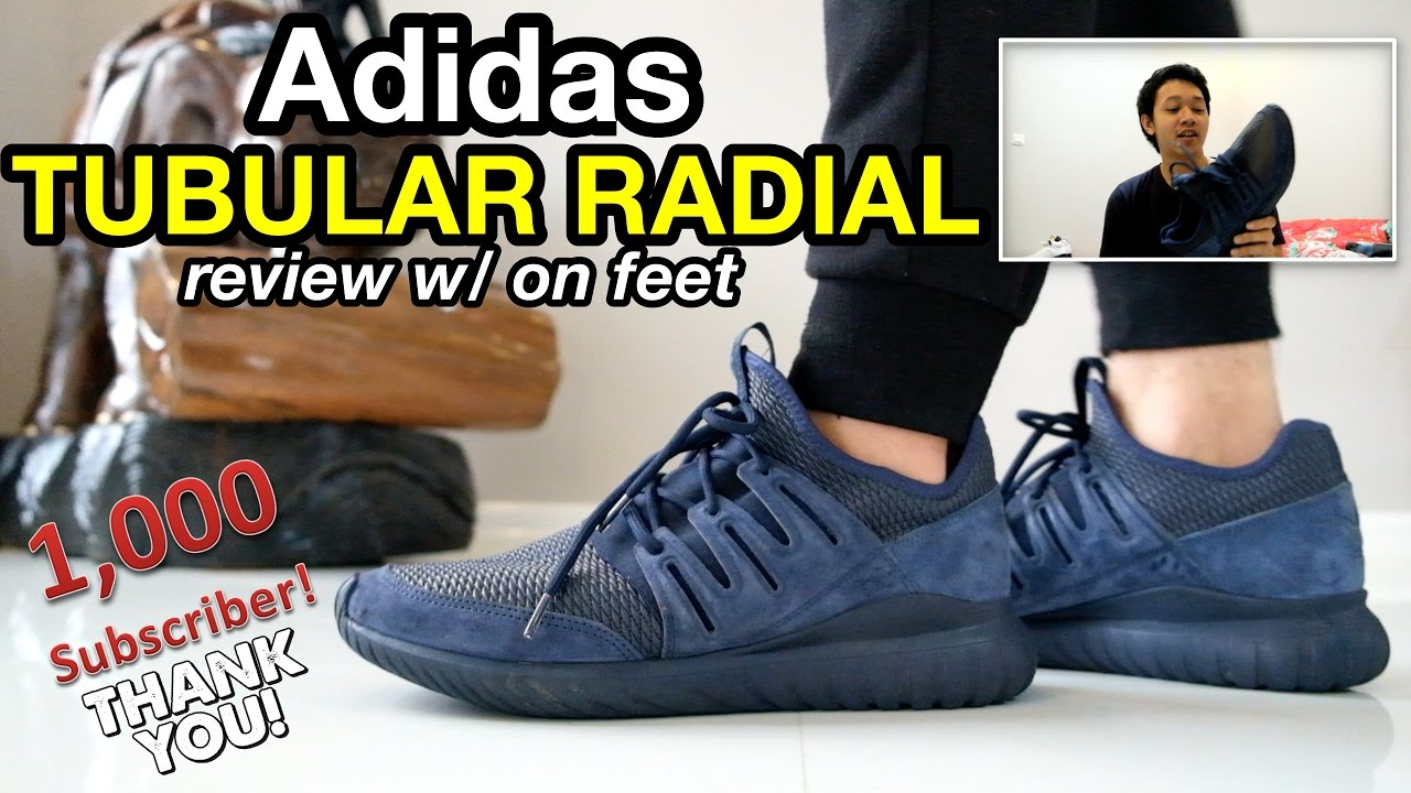 NEW Adidas Original Tubular Radial Low Triple Black Suede Mens sz
