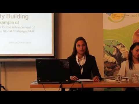 Milica Dimitrijevic, IAAI Representative to UN in Vienna, presenting GloCha youth engagement work