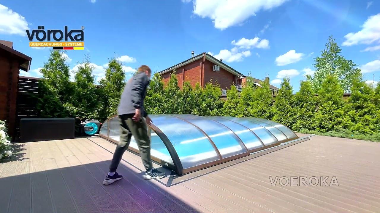 Павильон для бассейна модель Flair Коричневый
