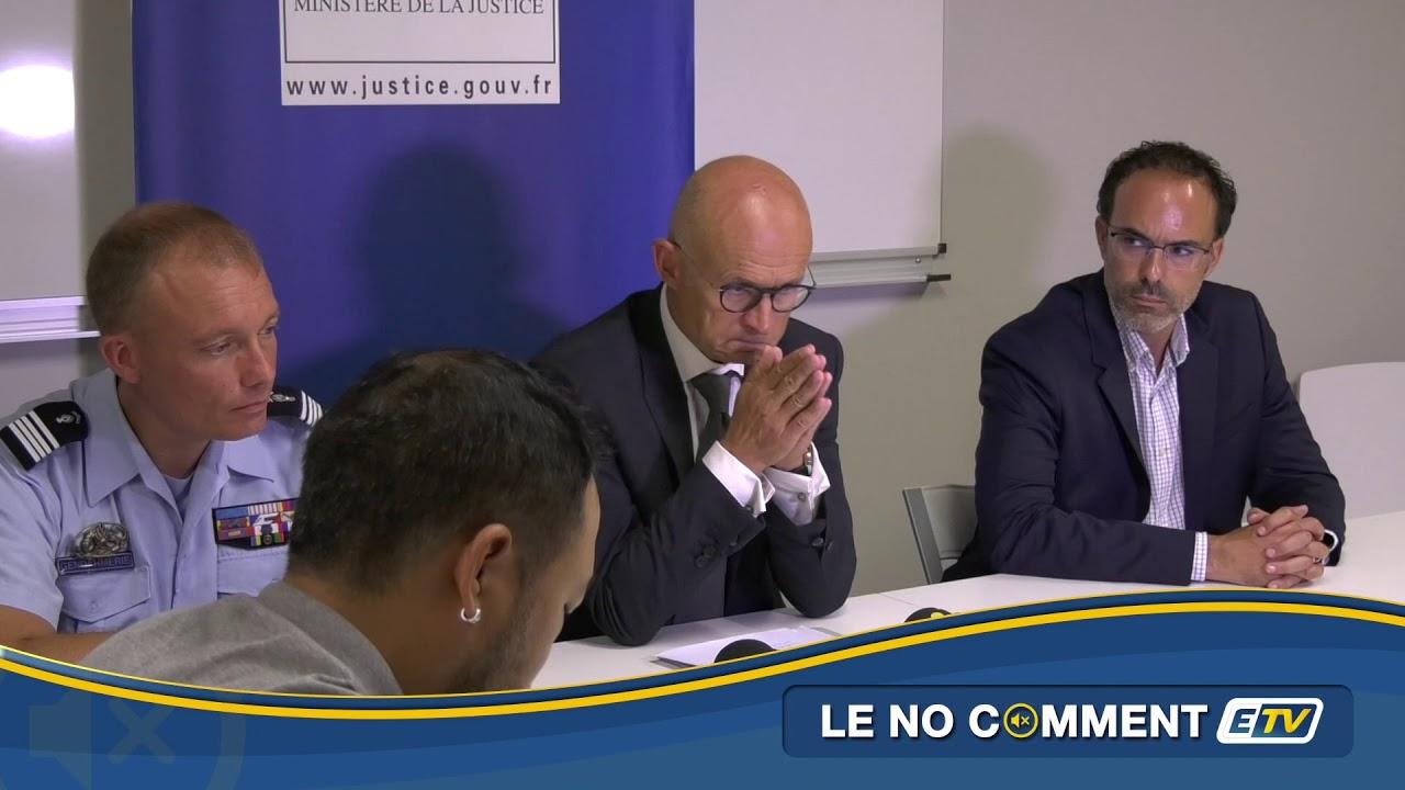 No Comment ETV : Conférence du Procureur de la République incendie St-François
