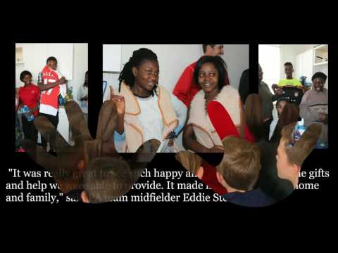 SLSG Teams Give Gifts for Congo Immigrant Family