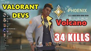 VALORANT DEVS - Vol¢ano - 34 KILLS - IMMORTAL 3 - PHOENIX - RANKED VALORANT