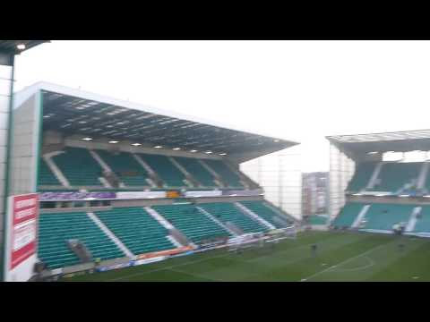 Inside Stadium Before Hibs v Alloa Match at Easter Road   Edinburgh   Scotland   December 2014