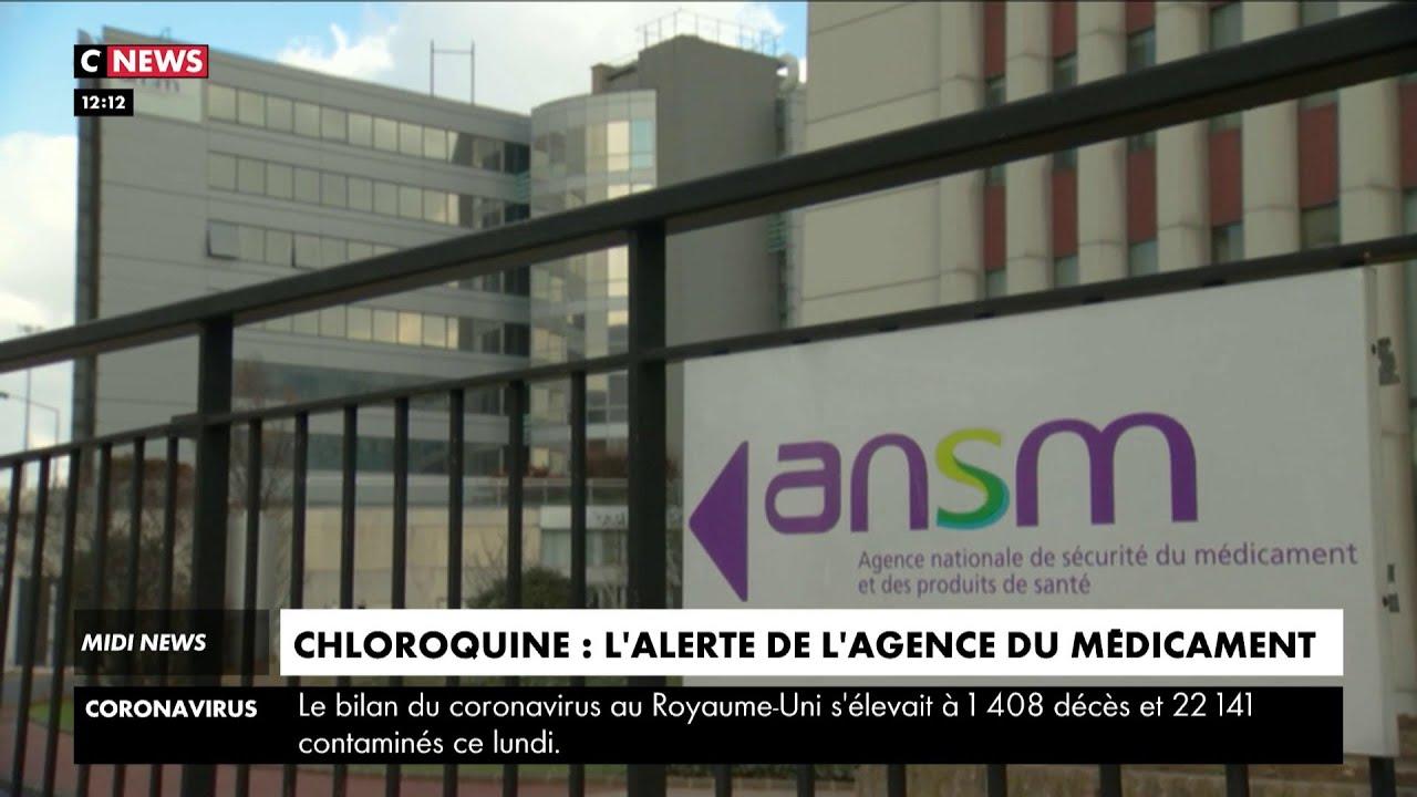 Chloroquine : après trois décès suspects, l'Agence du médicament alerte sur les effets indésira
