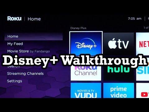 Disney+ on Roku Ultra 2019 Channel Walkthrough Showcase Demo Review Disney Plus DisneyPlus