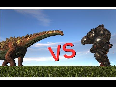 Titanosaur vs Lava Elemental || ARK: Survival Evolved || Cantex